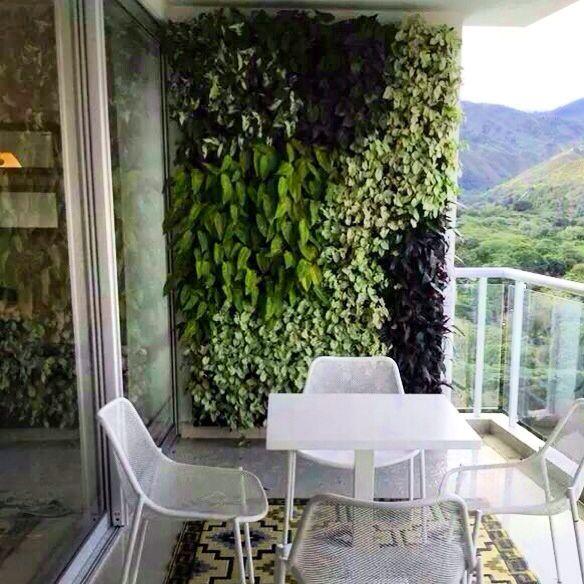 C mo hacer un jard n vertical para tu balc n noticias - Estructura jardin vertical ...